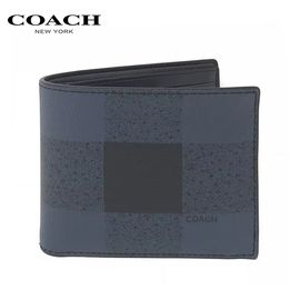 COACH 蔻驰COACH 男士时尚简约款对折卡包钱包  洲际速买
