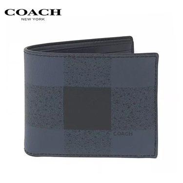 COACH 蔻驰COACH 男士时尚简约款对折卡包钱包