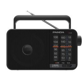 熊猫 PANDA T-15半导体收音机老人全波段便携式立体声老式fm调频广播