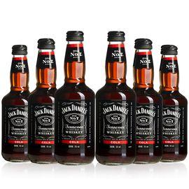杰克丹尼  也买酒  威士忌 预调酒 可乐味 330ml*6瓶 组合装