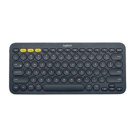 罗技 (Logitech) K380多设备蓝牙键盘 平板IPAD键盘 时尚便携 家用办公多彩无线键盘包 蓝牙鼠标伴侣 深灰色