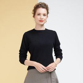 慕曼 女款圆领纯色修身女式100%羊毛衫M48148