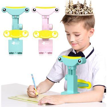猫太子 儿童坐姿矫正器学生写字视力保护仪可升降 浅蓝(单矫正器,不含写字板)M8000