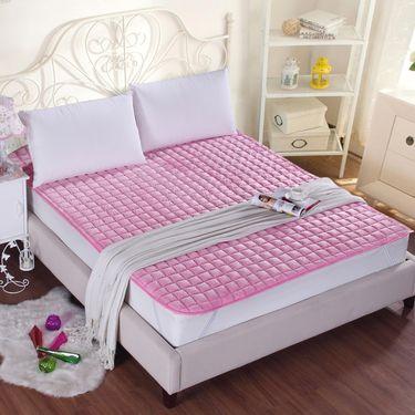艾桐 法兰绒剪花床护垫 加厚床褥子