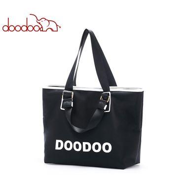 doodoo 包包女新款简约大容量手提包防水面料单肩斜跨包 D8798