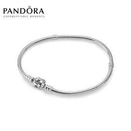 PANDORA 潘多拉 经典款925银蛇骨链590702HV 洲际速买