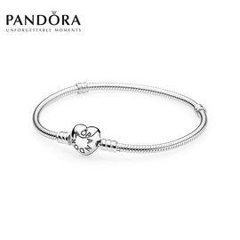 PANDORA 潘多拉 桃心经典款925银蛇骨链590719