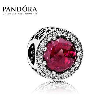 PANDORA 潘多拉 樱桃红闪亮的心 925银串饰 洲际速买
