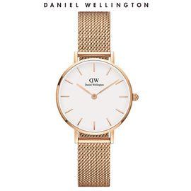 Daniel Wellington 丹尼尔惠灵顿  DW女表金边钢带28mm白盘欧美简约学生石英表DW00100219