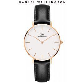 Daniel Wellington 丹尼尔惠灵顿  手表DW女表 金色边白盘皮带女士手表学生手表 32mm