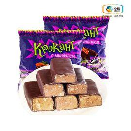 KDV 俄罗斯进口 KDV巧克力夹心糖500g 夹心紫皮糖袋零食喜糖果吃货成人 俄罗斯进口 夹心巧克力 休闲零食