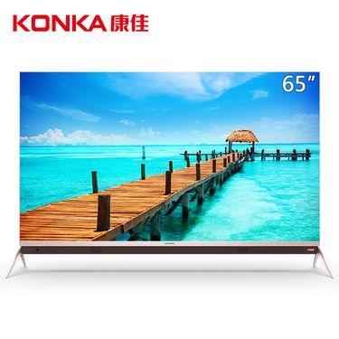 康佳 65P9 65英寸超薄全面屏HDR金属4K超高清人工智能K歌互联网平板液晶电视机
