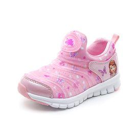 百丽 Disney迪士尼童鞋毛毛虫秋季新款女童儿童毛毛虫运动鞋K00249