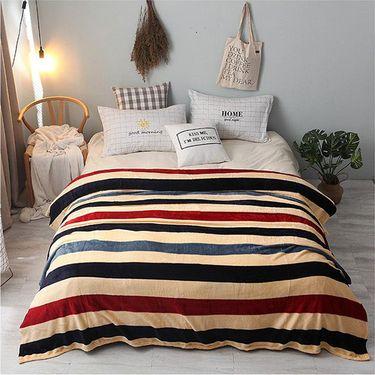 逸轩 /精新 法莱绒毛毯超柔印花厚绒盖毯 T01