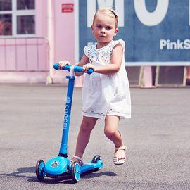 COOGHI 酷骑 儿童滑板车可坐三轮折叠小孩平衡车滑滑车溜溜踏板车2-5岁