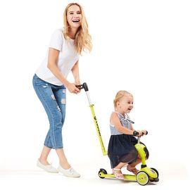 COOGHI 酷骑儿童滑板车可坐三轮二合一多功能小孩平衡车滑滑车2-5岁踏板车手推车