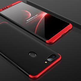 麦阿蜜 OPPO R11s手机壳R11splus保护套创意撞色三段式拼接全包防摔轻薄磨砂硬壳时尚男女