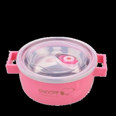 SNOOPY 正版史努比泡面碗带盖双层内胆304不锈钢双耳大学生宿舍便当饭盒