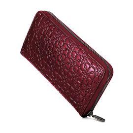 Folli Follie 女士时尚长款深红色漆皮钱包 IVY