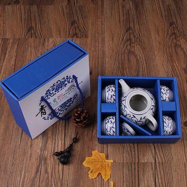 卡维特  功夫茶具套装大号陶瓷壶送6个陶瓷杯