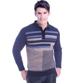 浪莎 保暖内衣 男士T恤领时尚商务休闲保暖上衣加厚加绒保暖衣