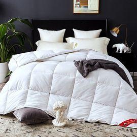 棉瑜 冬季加厚亲肤羽绒被 白鸭绒冬被  200*230cm 白色8斤