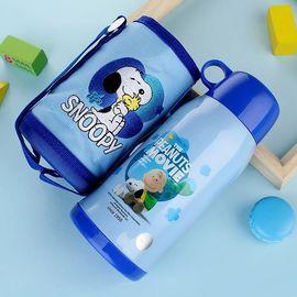 SNOOPY 美国史努比水壶宝宝男女学生不锈钢防漏水杯儿童保温杯带吸管两用