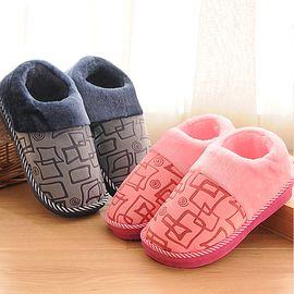 九洲鹿 棉拖鞋 加厚底冬季防滑可爱家居情侣室内棉拖