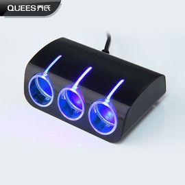 乔氏 新款一拖三点烟器汽车用品一分三电源分配器双USB车载充电器