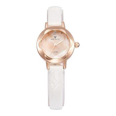 女士石英 迪士尼Disney女款纤细表带小表盘石英女表舒适皮带女士手表