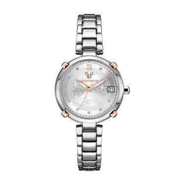 女士石英 迪士尼时尚简约百搭钢带舒适石英女表女士手表