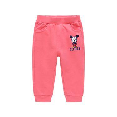 男童长裤 迪士尼-CUTIES童装男童亲肤舒适螺纹脚口休闲裤