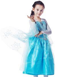 女童连衣裙/背带裙 冰雪奇缘艾莎公主连衣裙