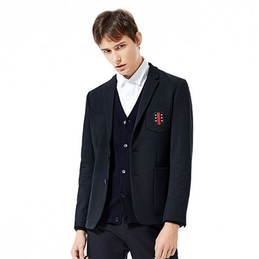 男式外套 太平鸟男装秋冬新品男士刺绣贴标时尚修身外套