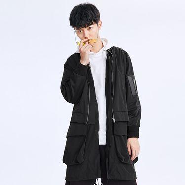 男式风衣 太平鸟男装2018年春夏新品男士潮流两件套装风衣