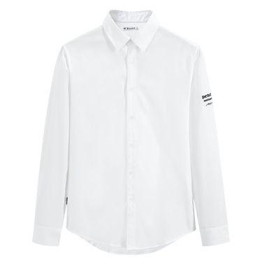 男式衬衫 太平鸟男装2018年秋冬新品男士纯棉刺绣休闲长袖衬衫