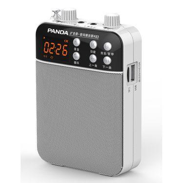 熊猫 U段无线麦扩音器K63 白色