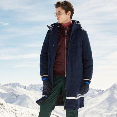 男式羽绒服 2018冬季新款羽绒服长款男冬季防寒时尚连帽