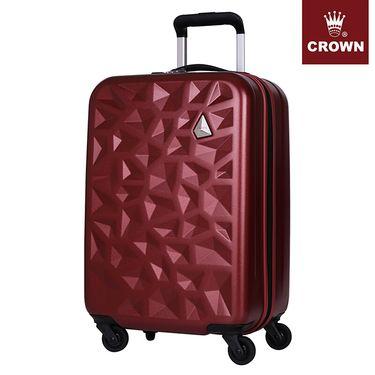 皇冠 拉杆箱 20英寸铝框八轮箱 耐磨铝框硬箱登机C-F5138 樱桃红