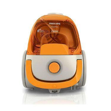 飞利浦 吸尘器 除螨吸尘器家用静音大功率迷你小型FC8085/81 橙色
