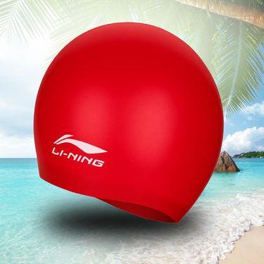 泳帽 李宁【泳帽】游泳装备防水硅胶泳帽