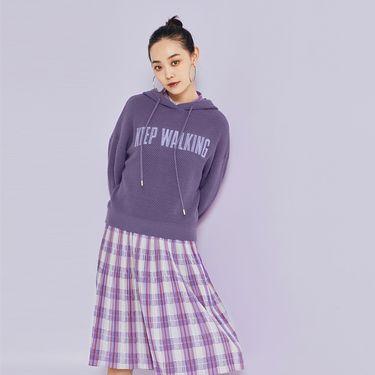 女式毛衣 针织衫卫衣女连帽2018秋季新款宽松上衣撞色字母套头衫