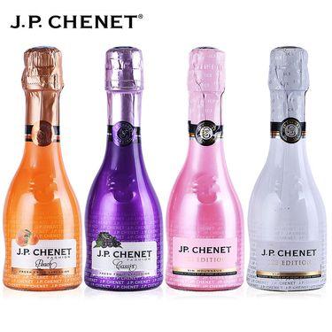 香奈  J.P.CHENET 法国进口桃红起泡酒半干白葡萄酒甜气泡酒 小瓶组合装  200ml*4瓶
