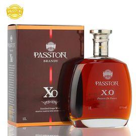 派斯顿 PASSTON  法国原酒进口洋酒 银樽XO白兰地单支洋酒礼盒装1000ml  送原装礼盒 礼袋和洋酒杯1个