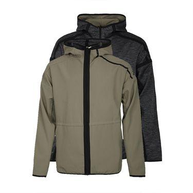 阿迪达斯 男上衣2018秋冬运动服ZNE两面穿连帽休闲夹克外套CY9915