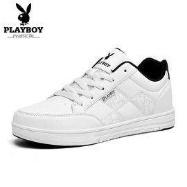 花花公子 运动板鞋男鞋运动休闲鞋白黑色日常潮流韩版