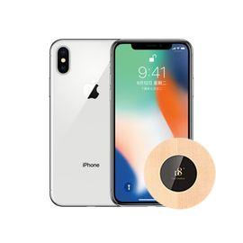Apple 【含D8木质无线充电器】 苹果iPhone X 银色 64G 全网通 X ios (顺丰包邮)