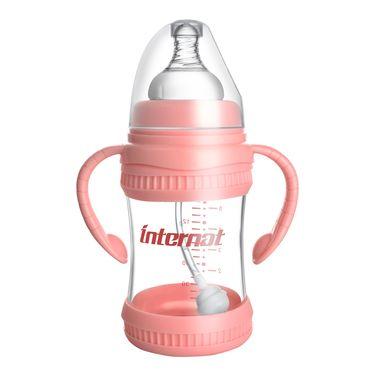 Internat 益特龙新生儿宽口径双手柄玻璃奶瓶婴儿防胀气奶瓶PB-K1301