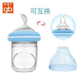 好孩子 (gb)米糊奶瓶 婴儿硅胶挤压喂养勺子 米粉辅食喂食器 60ML(加奶嘴)