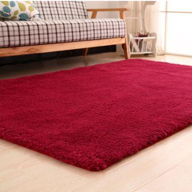 沁园家纺家用柔软北极绒地毯地垫【颜色随机发,有特殊要求请备注】